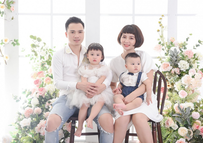 Ở Bông Studio mỗi bộ ảnh gia đình là một chủ đề về phong cách, về màu sắc