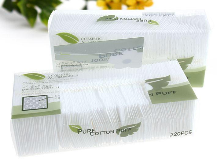 Hộp bông tẩy trang Pure Cotton Puff 220 miếng