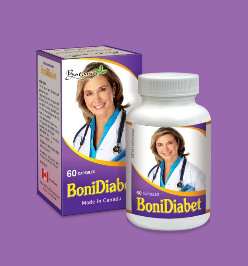 BoniDiabet - Sản phẩm của Canada là sản phẩm mang tính chất đột phá, gồm cả thảo dược và nguyên tố vi lượng với tác dụng ưu việt