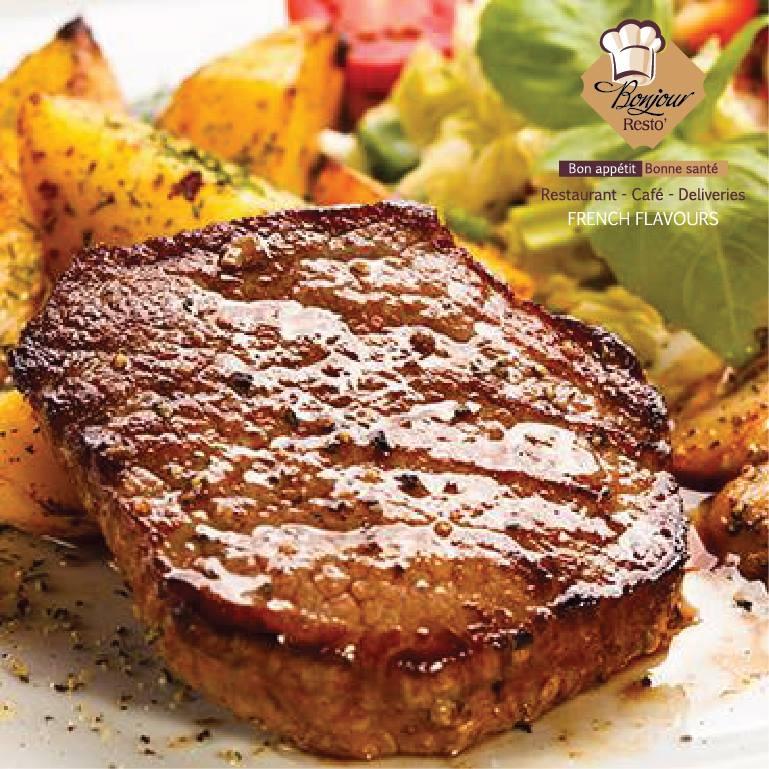 Bò bit-tết là một món ăn đem lại dinh dưỡng cao cho người dùng.