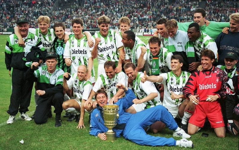 M'gladbach ăn mừng chiếc cúp vô địch năm 1995
