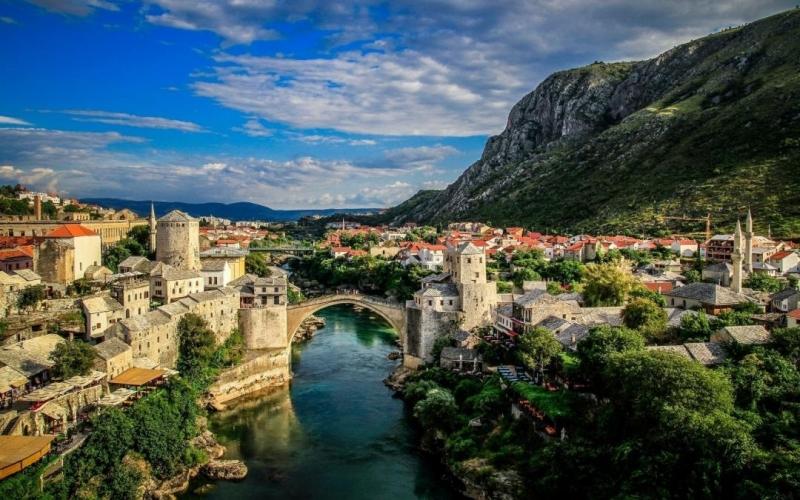 Một góc thành phố Bosnia và Herzegovina