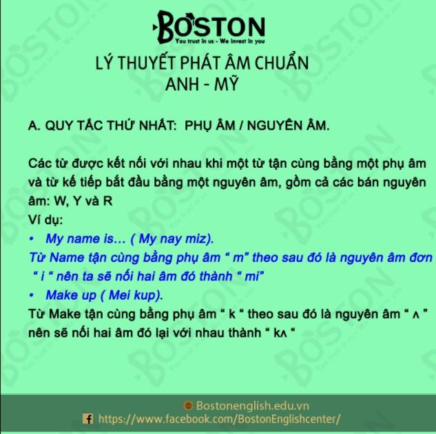 Khóa học phát âm tại Boston English