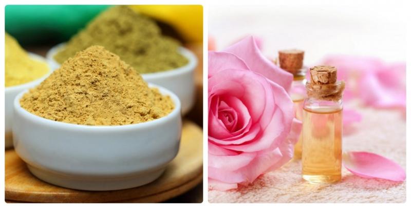 Bột gỗ đàn hương kết hợp với nước hoa hồng là một bí quyết giúp làm mờ sẹo vô cùng tốt