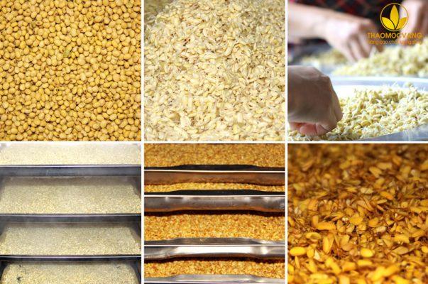 Quy trình sản xuất bột mầm đậu nành Fami của Thảo Mộc Vàng