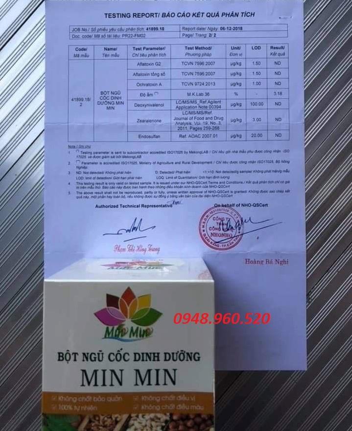Bột ngũ cốc dinh dưỡng lợi sữa Min Min