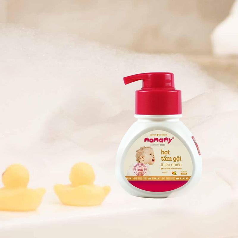 Bọt tắm gội thiên nhiên an toàn cho bé Mamamy (200ml/chai)