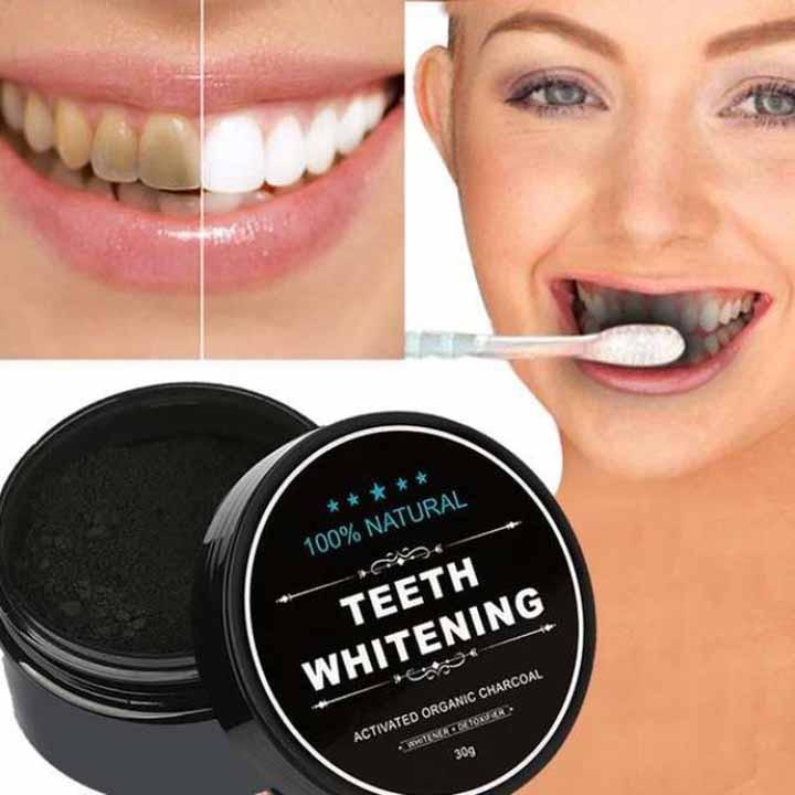 Loại bỏ các vết bẩn trên răng mà không sử dụng các hóa chất độc hại như trong các sản phẩm làm trắng răng đang có trên thị trường