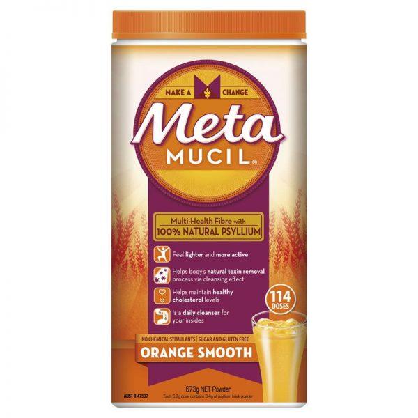 Bột uống bổ sung chất xơ Metamucil Daily Fiber Supplement – Orange Smooth Sugar Free