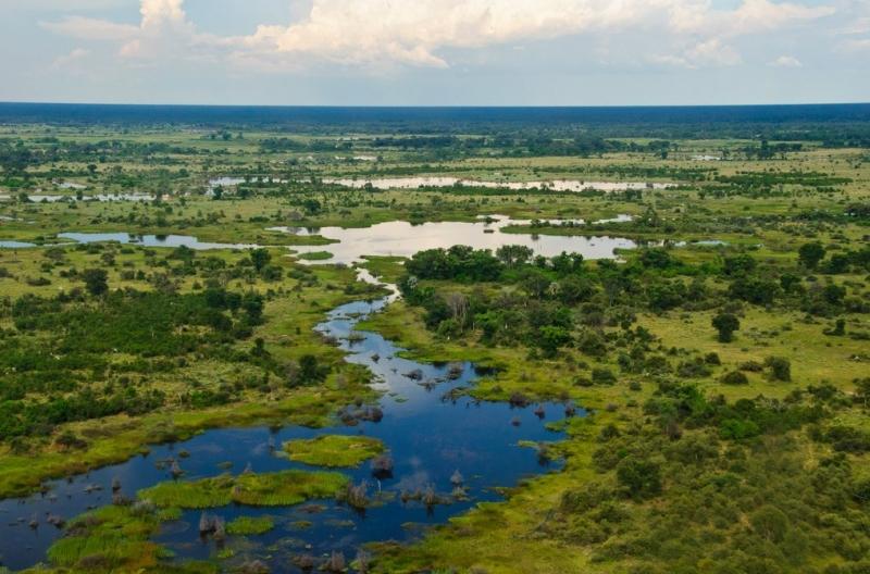 Khung cảnh thiên nhiên tuyệt đẹp ở Botswana