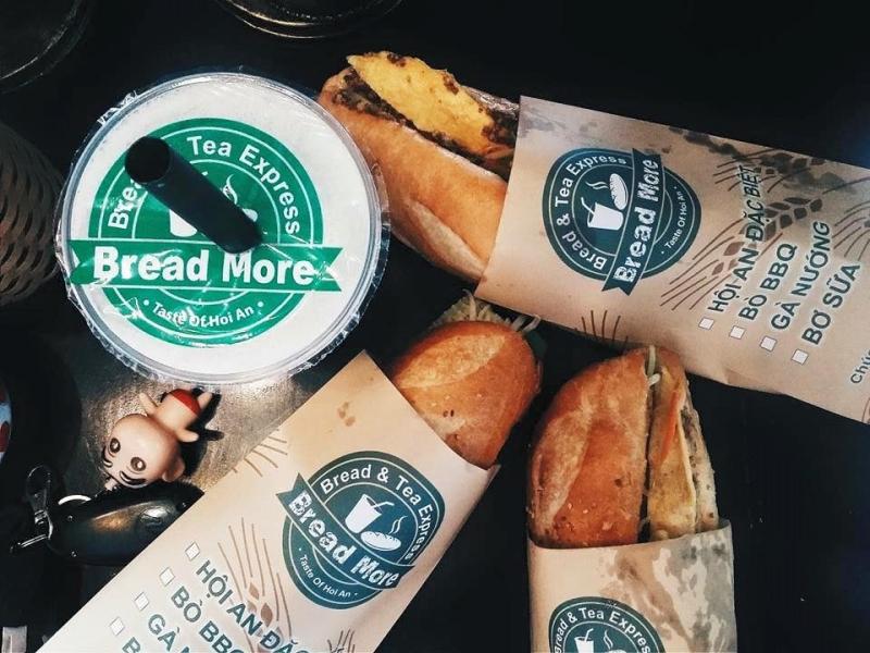 Bread More chuyên phục vụ bánh mì Hội An và đồ uống sạch