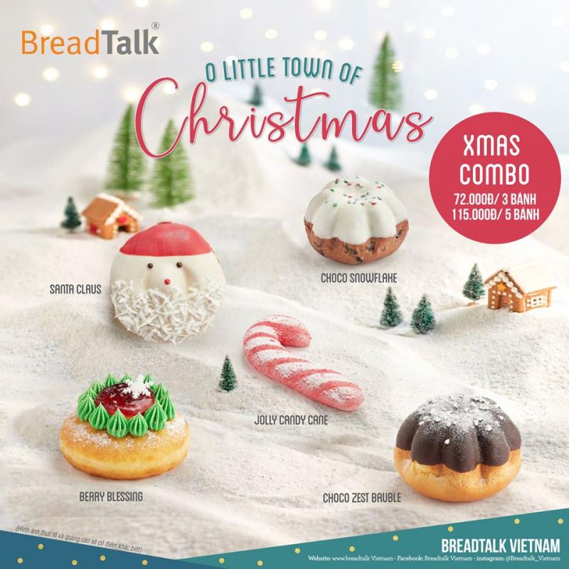 BreadTalk mang đến những chiếc bánh có hình thức đẹp và hương vị thơm ngon