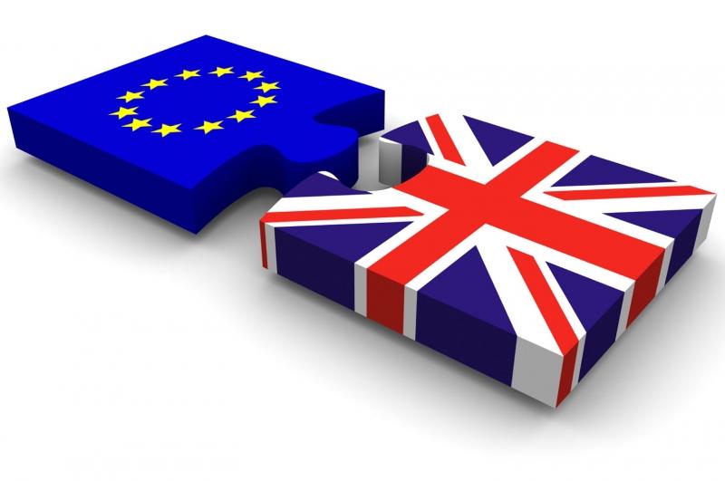 Hình ảnh tượng trưng cho sự rời khỏi liên minh Châu Âu của Vương quốc Anh