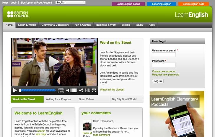 Trang web cung cấp các thông tin về dạỵ và học tiếng anh cho sinh viên