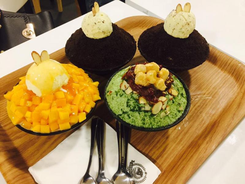 Bingsu Chocolate của quán được đánh giá rất cao.