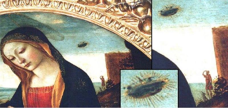 Bức tranh nổi tiếng về sự xuất hiện của UFO -