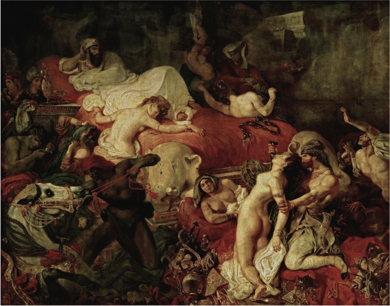 Bức tranh Death of Sardanapalus