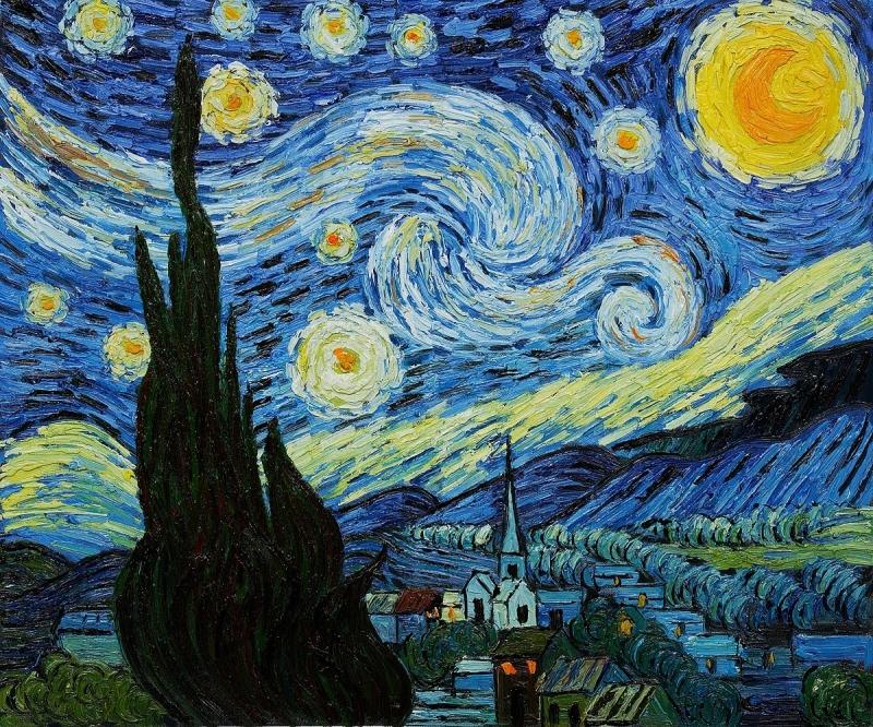 Bức tranh Starry Night (Đêm Đầy Sao) – Vincent van Gogh