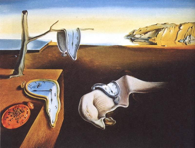 Bức tranh The Persistence Of Memory (Sự Dai Dẳng Của Ký Ức) – Salvador Dali
