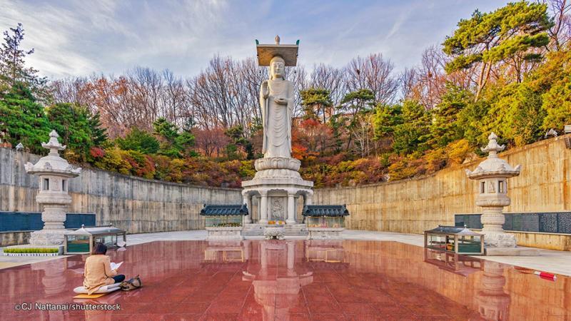 Tượng Phật đứng Bongeunsa – Hàn Quốc