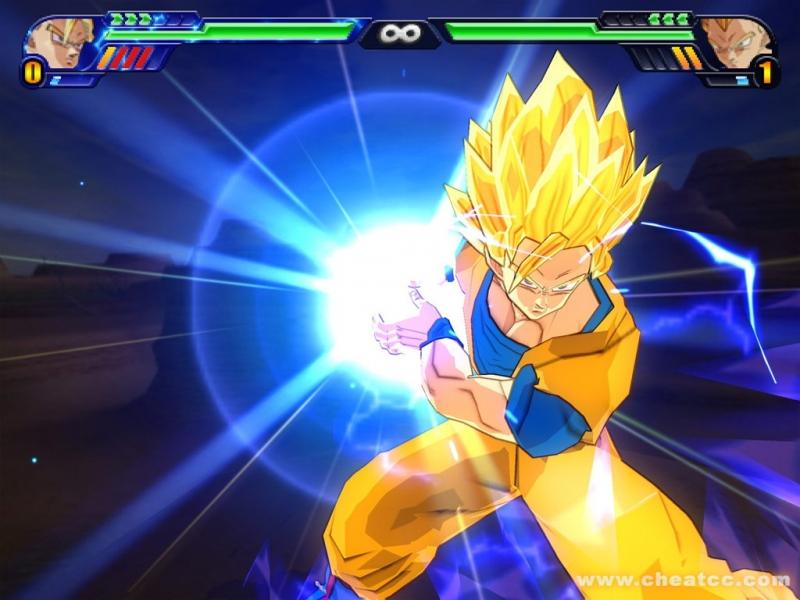 Một pha cuồng nộ của Goku trong game.