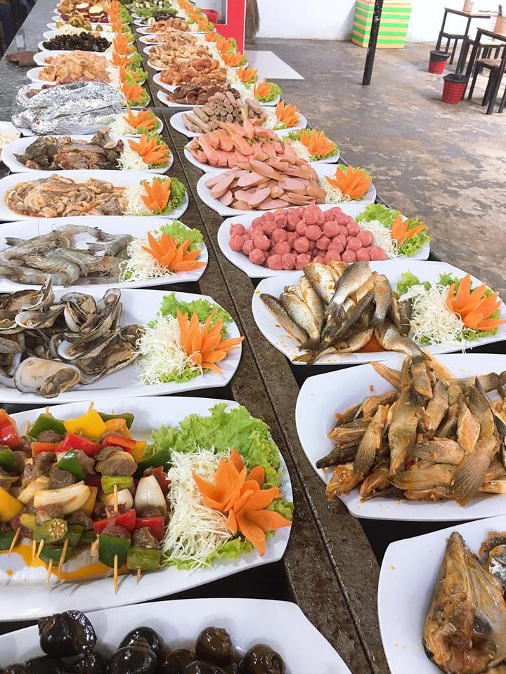 Thực đơn buffet tại Buffet 99k Vũng Tàu