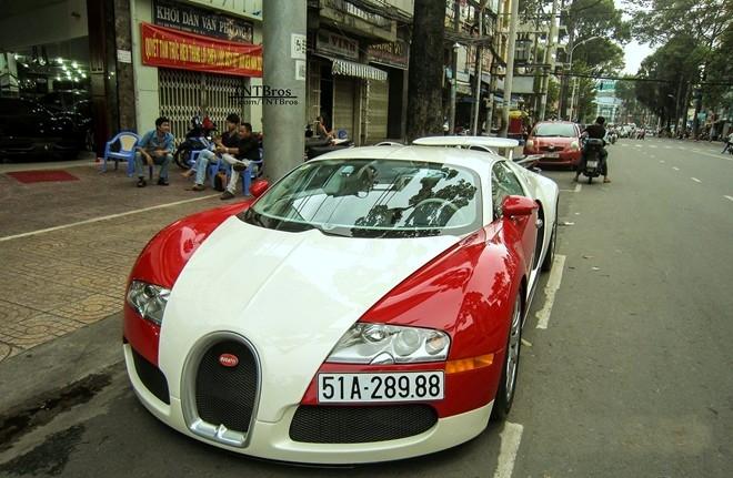 Chiếc Bugatti Veyron của đại gia Minh