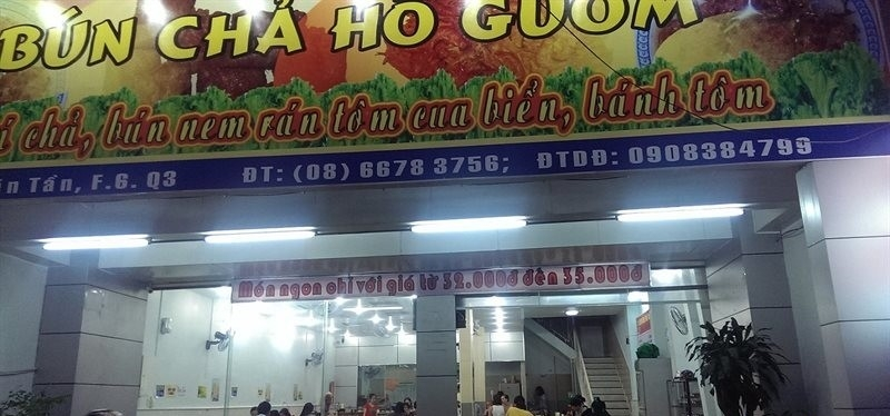 Bún Chả Hà Nội - Bún chả Hồ Gươm - Võ Văn Tần