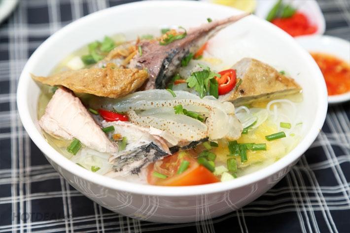 Bún sứa Nha Trang thơm ngon, đậm đà hương vị.