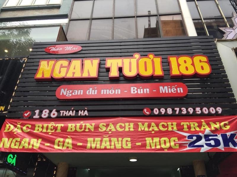 Bún ngan tươi 186 - Thái Hà