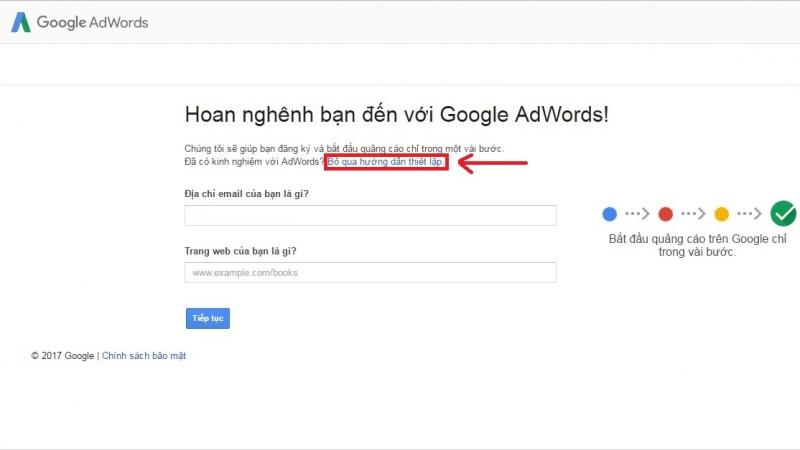 Bước 1: Truy cập Google AdWords