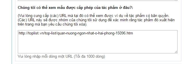 Bạn copy link bài viết của bạn trên Toplist.vn vào hộp thoại