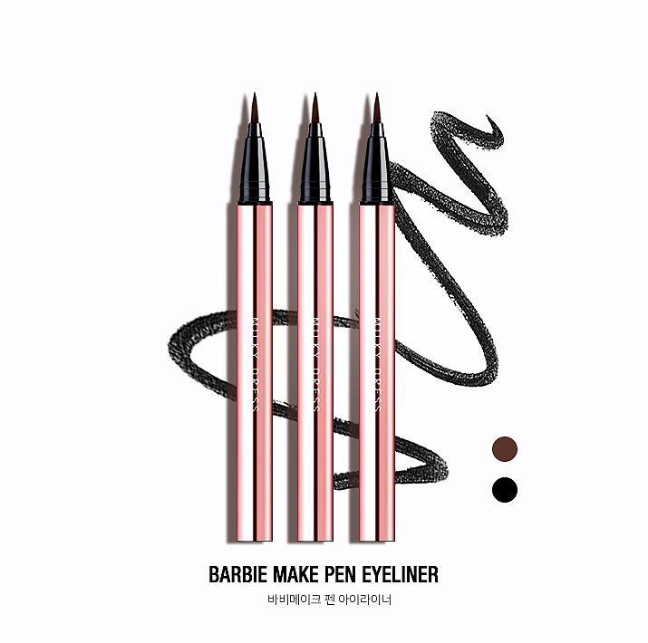 Bút Kẻ Mắt Nước Không Trôi Milky Dress Barbie Make Brush Pen Eyeliner