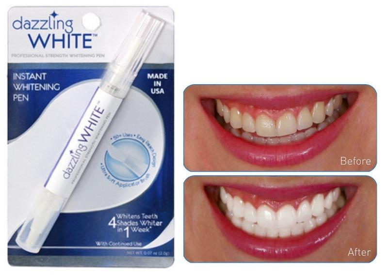 Bút tẩy trắng răng Dazzling White Instant Whitening Pen sẽ giúp bạn có được hàm răng trắng sáng hơn 4 cấp độ chỉ sau 1 tuần sử dụng