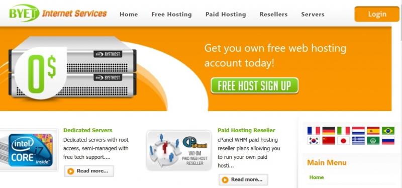 Byethost vẫn là một trong những nhà cung cấp hosting miễn phí được ưu tiên nhiều nhất.