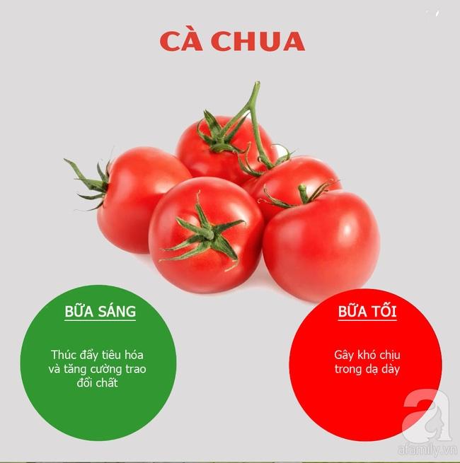 Thời gian nên ăn cà chua