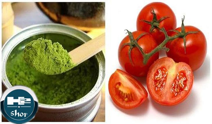Cà chua và bột đậu xanh