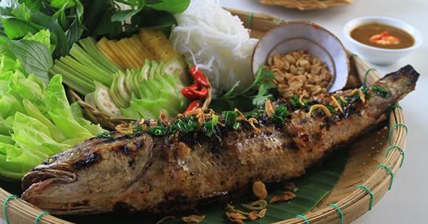 Cá Lóc Nướng Trui Cà Mau