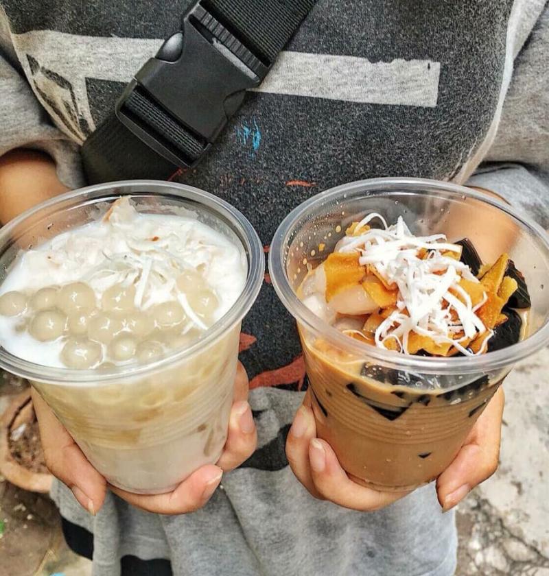 Cà phê cốt dừa, dừa dầm