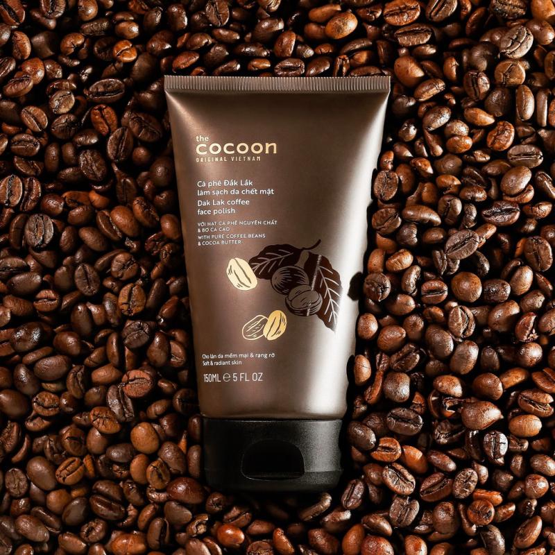 Cà phê Đắk Lắk làm sạch da chết mặt cocoon