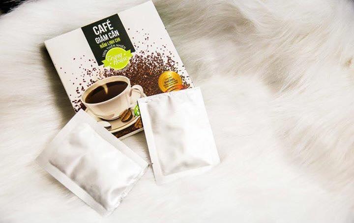 Cafe Giảm Cân Nấm Linh Chi - Phân Giải Tinh Bột - Giảm Mỡ