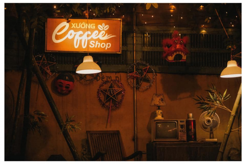 Phong cách trang trí ấn tượng của Xưởng (Nguồn; Fanpage: Cửa hàng cà phê Xưởng)