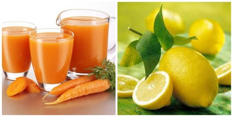Cà rốt và chanh giúp bạn làm trắng da và giảm nốt thâm đen