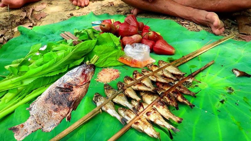 Cá suối nướng Mai Châu