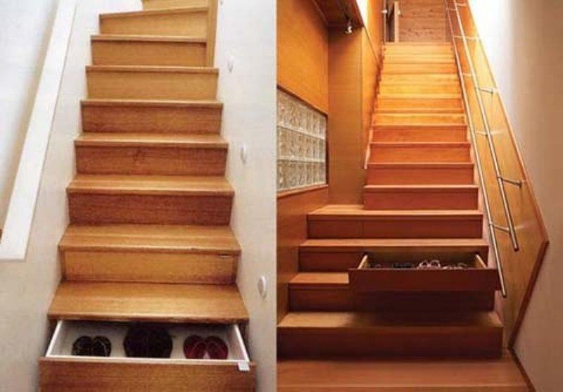 Ngăn cầu thang để giày