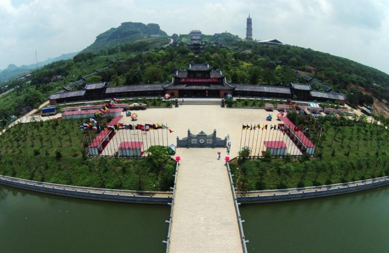Khu di sản văn hóa cố đô Hoa Lư tọa lạc ở xã Trường Yên, huyện Hoa Lư