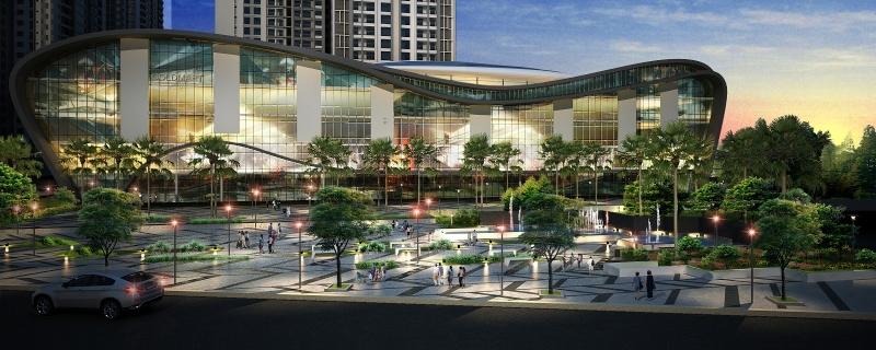 Các khu trung tâm thương mại phát triển khá mạnh