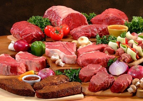 Các loại thịt: