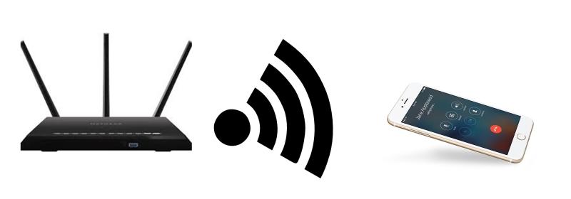 Hướng thiết bị về hướng phát wifi