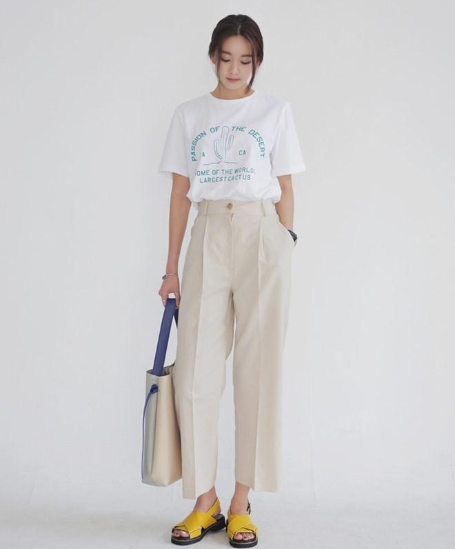 Quần có gân dọc quần cũng sẽ giúp cải thiện chiều cao đáng kể
